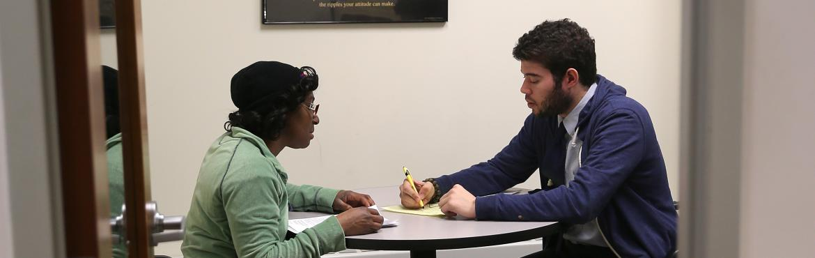 Dc resident meets with financial adviser