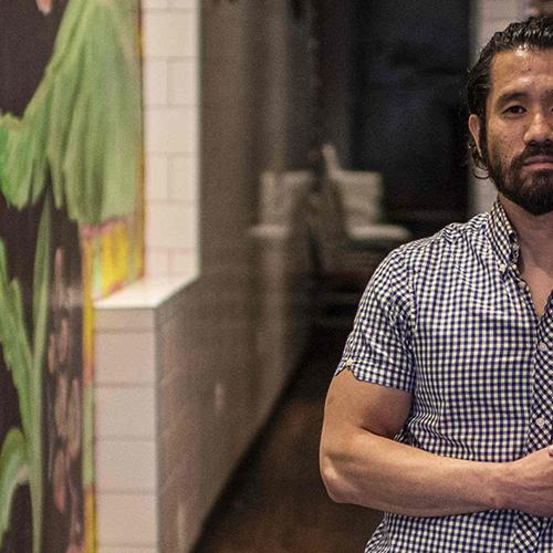 Eric Wang, 39, co-owner of Burmese Restaurant Thamee on H street corridor poses during an interview about how small business owners are coping with the COVID-19 crisis