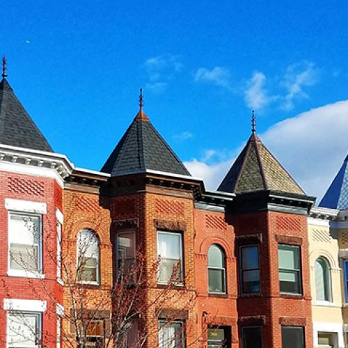 Skyline of DC rowhouses